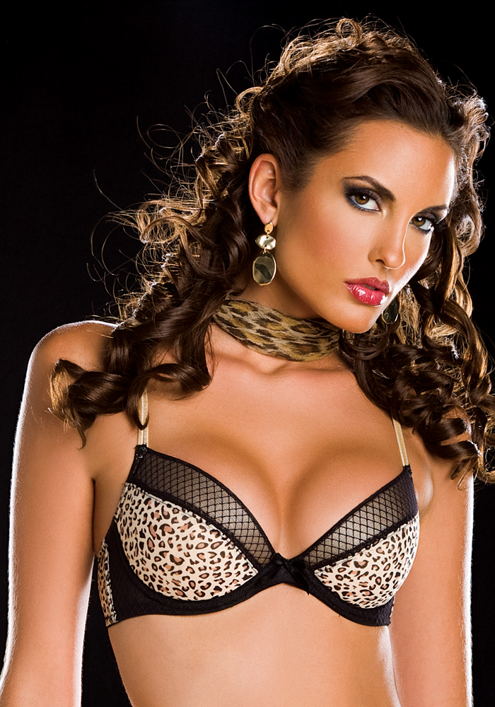 Envy Animal Print Underwire Bra from Oh La La Cheri