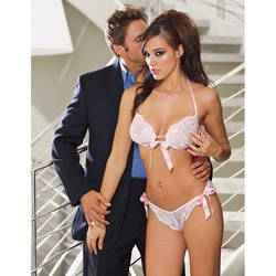 Lace Halter Bra with Panty from Dream Girl
